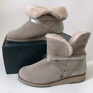 NEW Emu Women's Boots Gray Silver 6 Satinwood Mini
